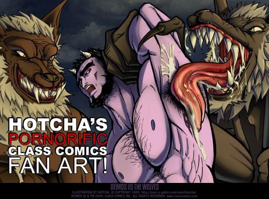 Hotcha's pornorific Class Comics fan art!