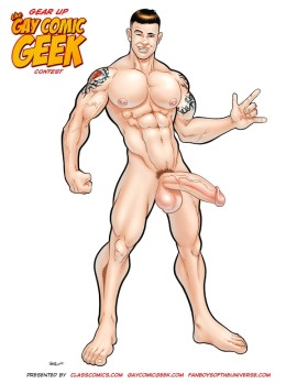 Gay Comic Geek Naughty! Not the Official Entry Photo to be used!