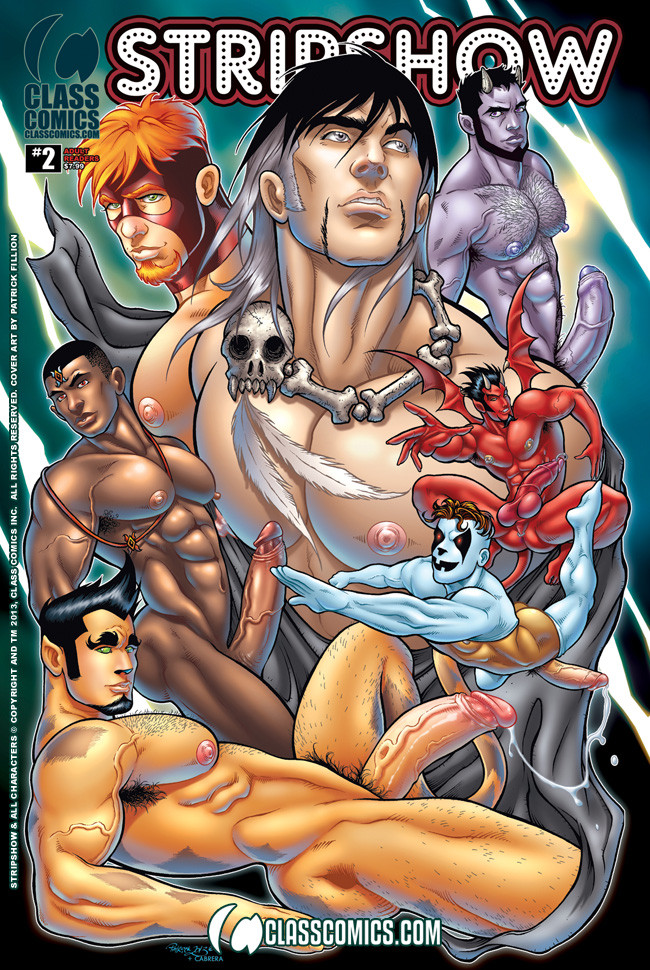 The official cover to Class Comics' up-coming STRIPSHOW: THE COLLECTION VOLUME #2. Art by Patrick Fillion. Colors by Cabrera and Fillion.