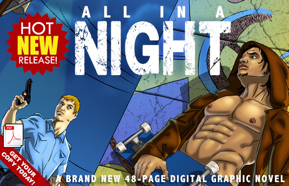 All in a Night - A 48 PAGE NOIR EASY ACCESS PDF DIGITAL GRAPHIC NOVEL.
