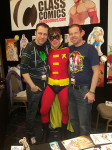 The Gay Comic Geek at our booth!