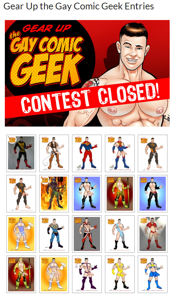 Gear Up the Gay Comic Geek Contest!