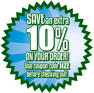 Save 10% with the coupon code JIZZ!