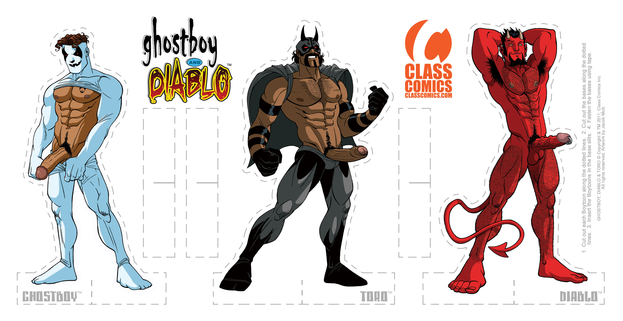 GHOSTBOY and DIABLO #1 – Paper Standees PACK – Art by Jacob Mott.
