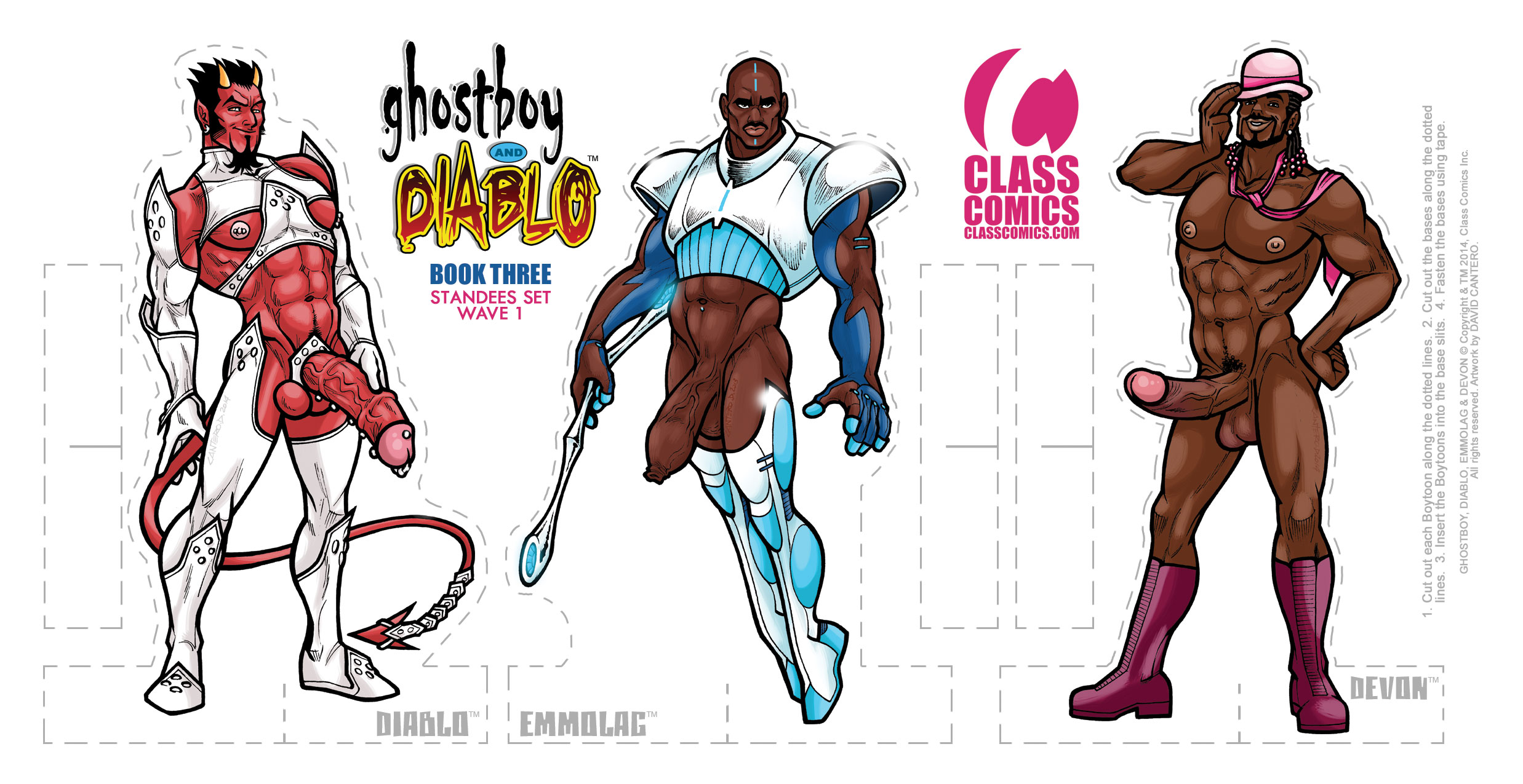 GHOSTBOY and DIABLO #3 – Paper Standees PACK card 1 of 2 – Art by David Cantero