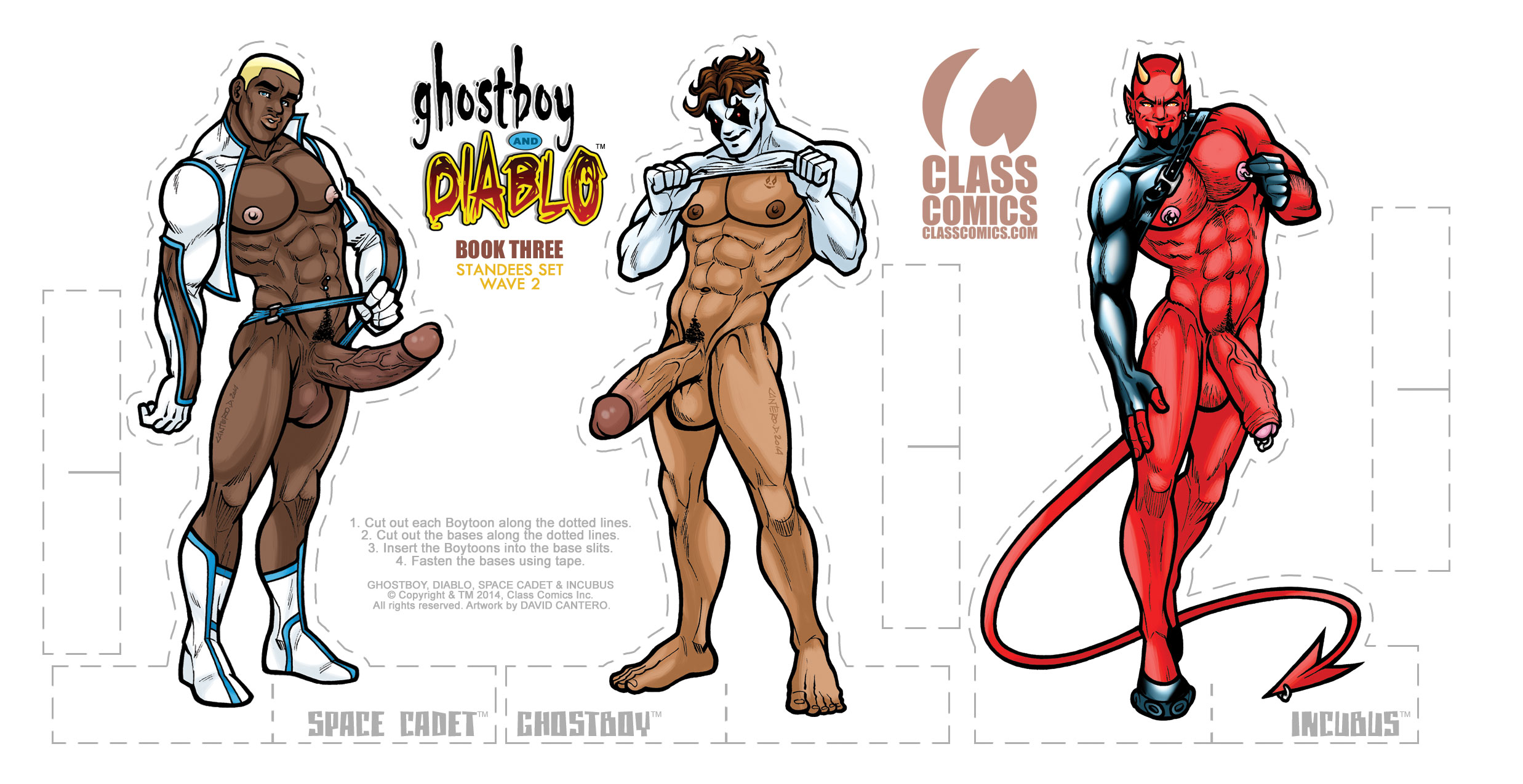 GHOSTBOY and DIABLO #3 – Paper Standees PACK card 2 of 2 – Art by David Cantero