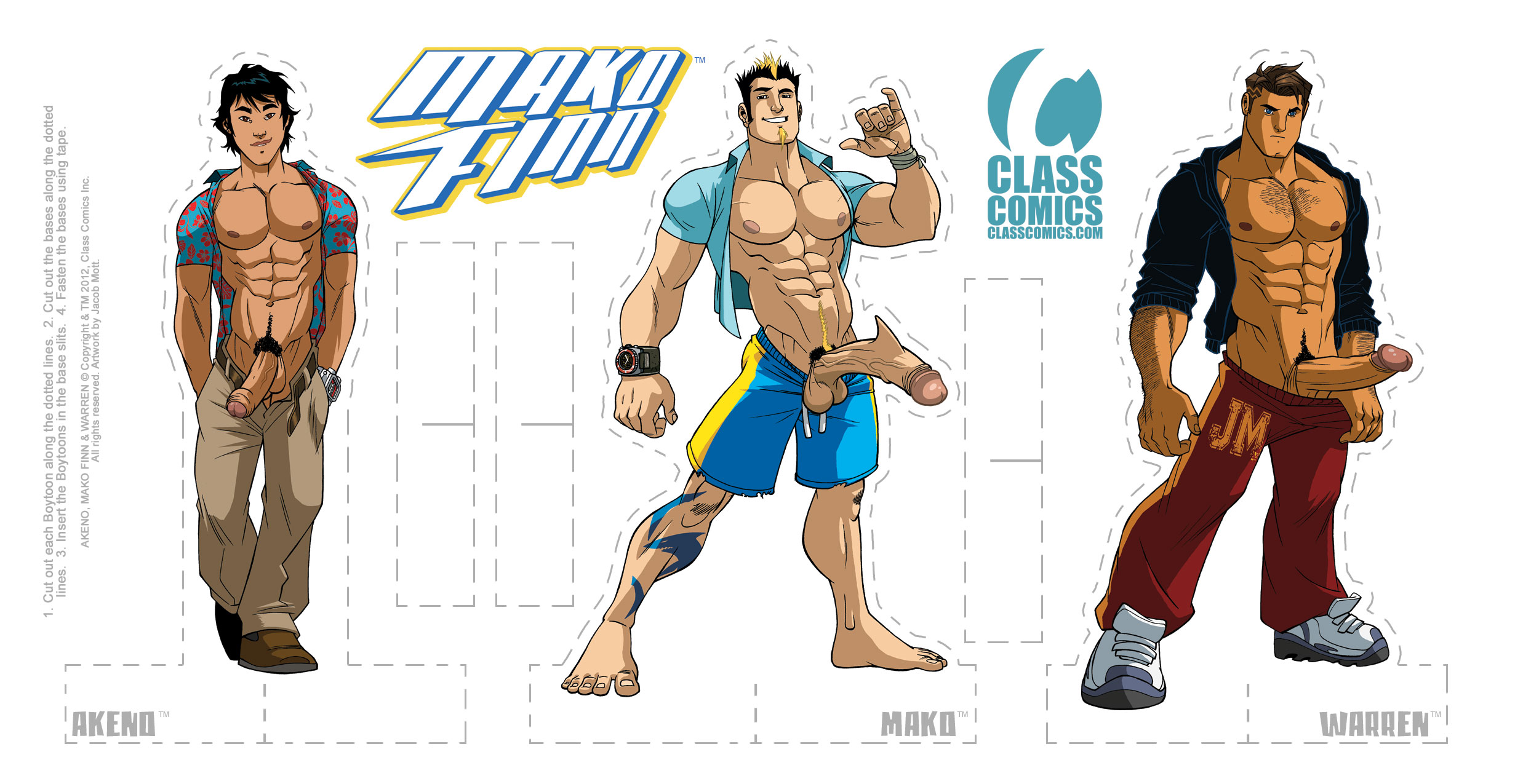 MAKO FINN #1 - Paper Standees PACK - Art by Jacob Mott.