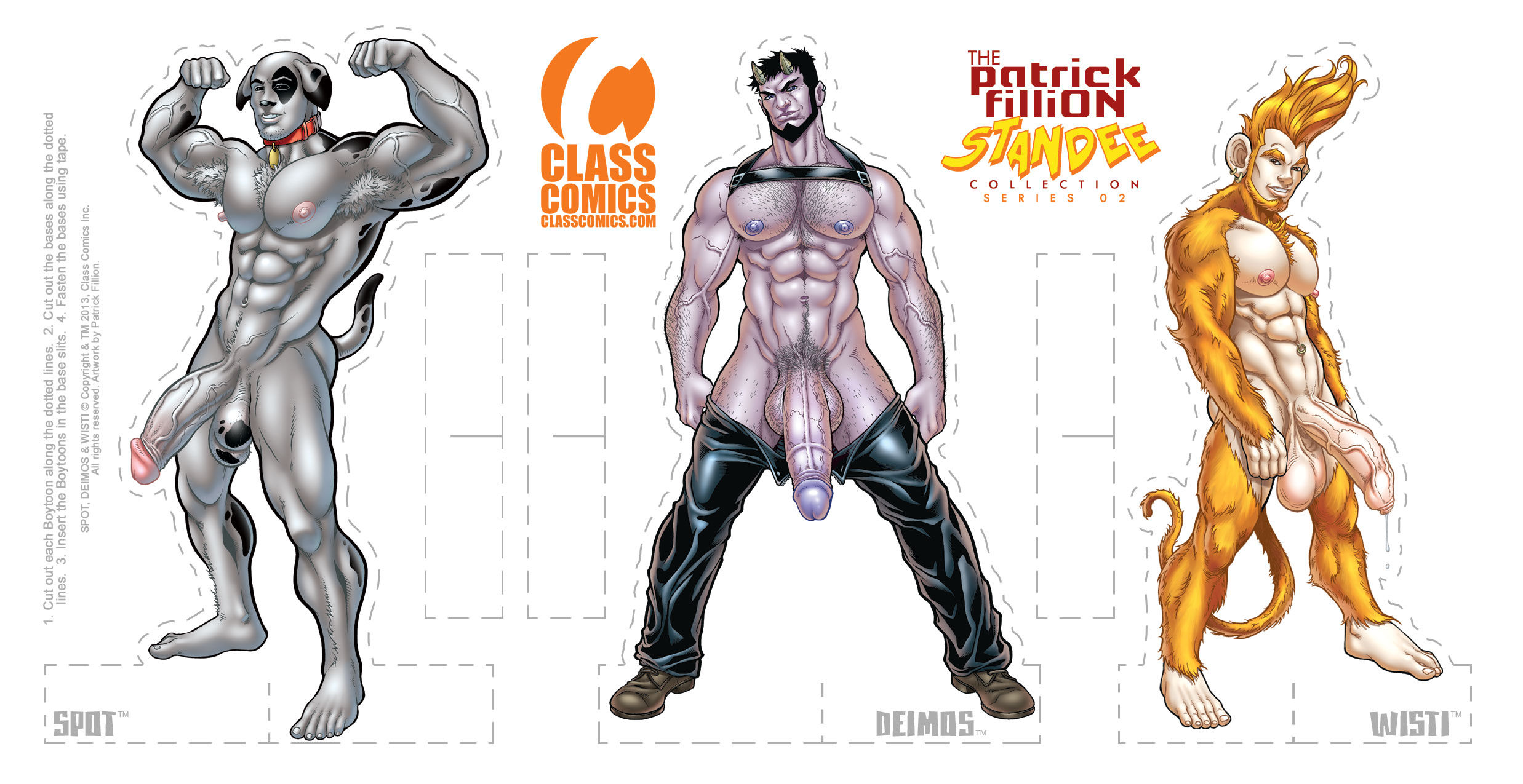 The PATRICK FILLION Standee Collection - Wave 02 PACK - Art by Patrick Fillion.