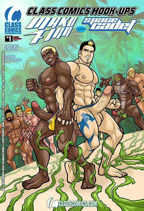 CLASS COMICS HOOK-UPS #1 -- the DAVID CANTERO Standard Edition Cover. Coming Summer 2015 from Class Comics.