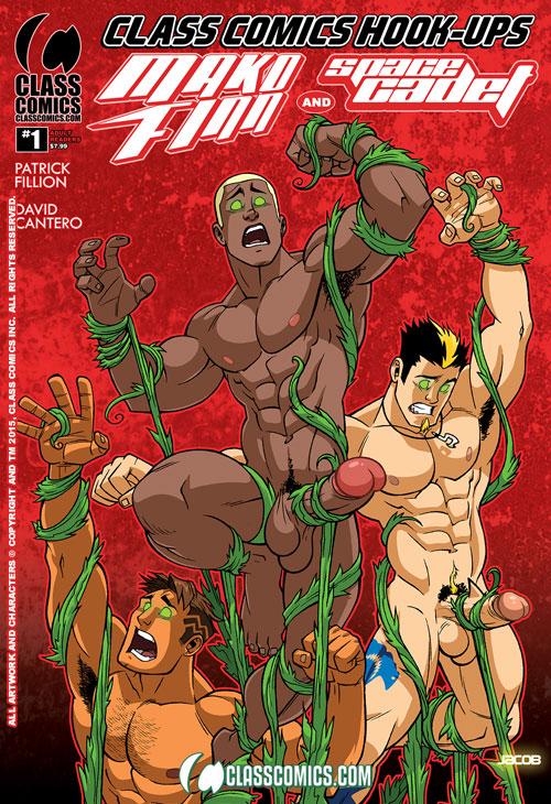CLASS COMICS HOOK-UPS #1 -- the JACOB MOTT Variant Cover. Coming Summer 2015 from Class Comics.