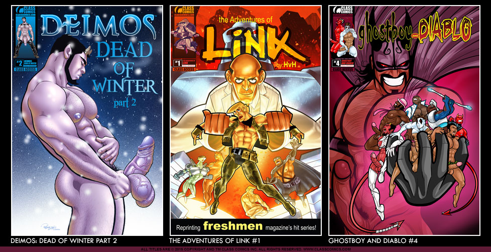 Class Comics reveals three new covers! DEIMIS: DEAD OF WINTER PART 2, THE ADVENTURES OF LINK #1 and GHOSTBOY AND DIABLO #4. All titles to be released Winter 2015.