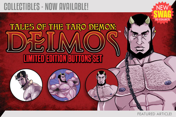 If you're a true Deimos fan, you'll need to check out his button set!