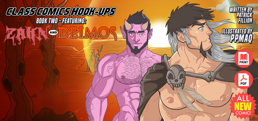 CLASS COMICS HOOK-UPS #2 featuring ZAHN and DEIMOS