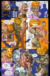 Jacko and Golden Boy in Blue Halloween with art by Michael Broderick!