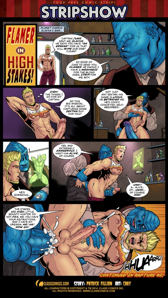 Flamer in High Stakes with art by Cray! Your free erotic gay comic of the month!