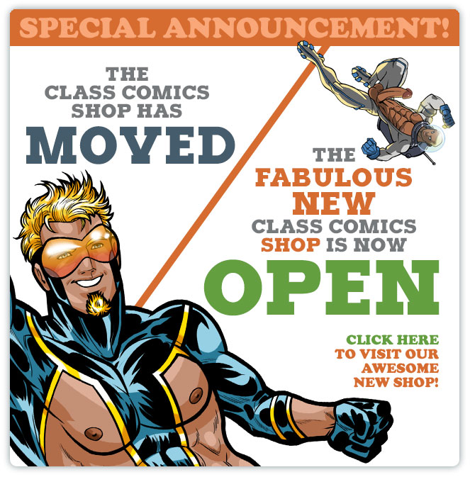 The Class Comics Erotic Gay Comic Shop has moved!